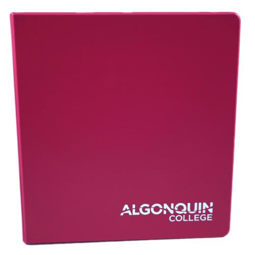 064128000564 Binder- 1.25 Inch Fashion Flamingo Pink
