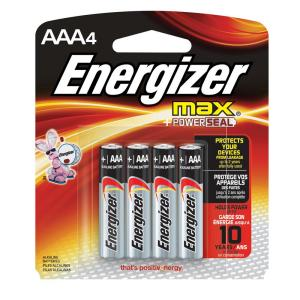 "039800099099 Batteries - ""AAa"" Energizer 4 Pack"