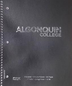 075755414013 Notebook- 3 Subject 240 Page Algonquin College