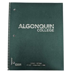 075755618343 Notebook- 1 Subject 160 Page With Algonquin College