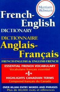 0877799172 Merriam Webster French English Dictionary