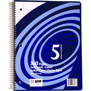 612668061363 Notebook: Enlivo 5 Subject 360 Page