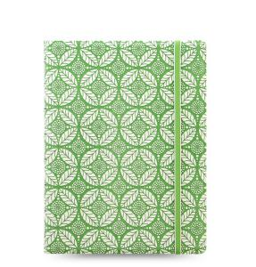 757286602243 Notebook: Filofax Impressions, A5 - Green & White