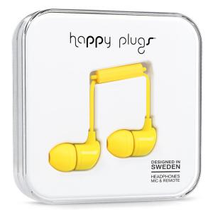 812273020537 Headphones: Happy Plugs In-Ear Earbuds - Yellow