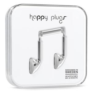 812273020957 Headphones: Happy Plugs Earbuds - Silver
