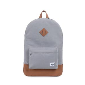 828432010356 Backpack - Herschel Heritage  Grey/Tan Synthetic Leather