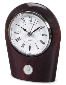 88880065039 Desk Clock Palm - Silver Plate Seal AC Woodmark Rosewood
