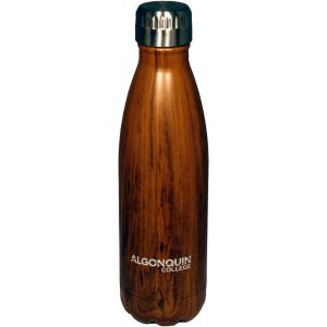 88880093822 Water Bottle: Brown Woodgrain