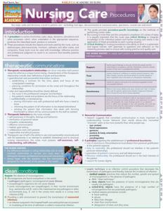 9781423203018 Nursing Care Procedures (Chart)