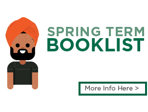 Spring term Booklist. More info here >.