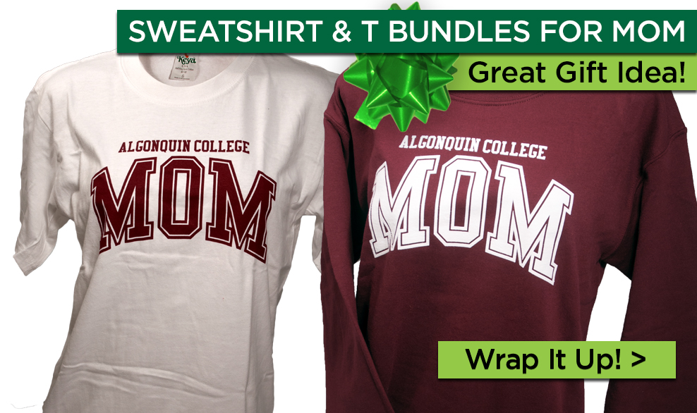 Sweatshirt & T bundles for mom. Great Gift Idea! Wrap it up!