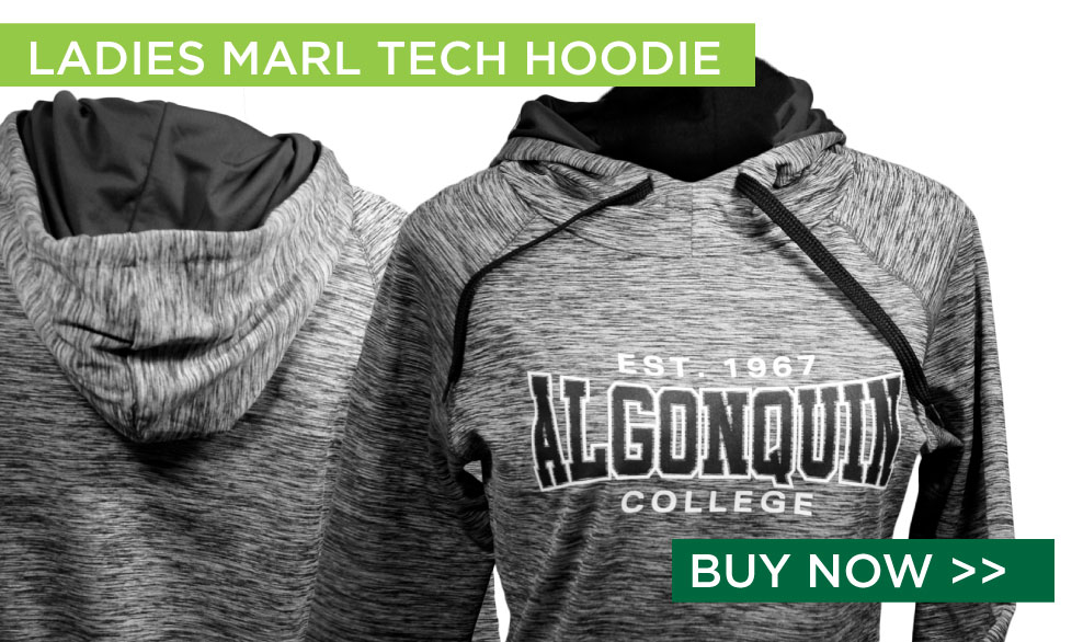 Ladies Marl Tech Hoodie. Buy Now.