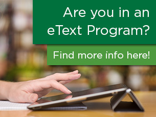 Are you in an eText Program? Find more info here! (picture of tablet)